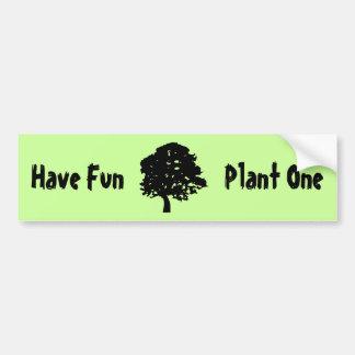 Diviértase plante a una pegatina para el parachoq etiqueta de parachoque