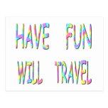 Diviértase viajará tarjetas postales