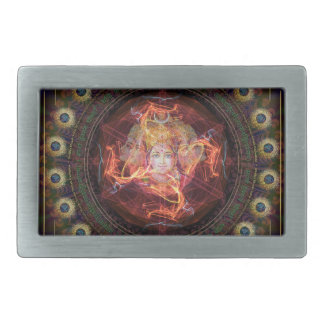 Divine awakening with the Magical Power of Gayatri Rectangular Belt Buckle