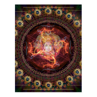 Divine awakening with the Power of Gayatri. Postcard