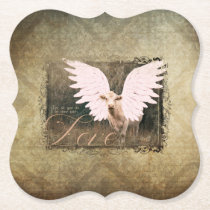 DIVINE BOVINE ANGEL COW COASTER LOVE VERSE SET 6