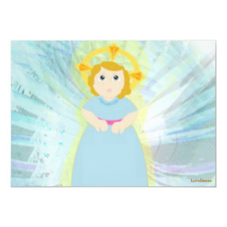 Divine Child Dazzling Blue Angel's Wings Card