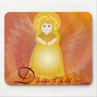 Divine Child Dazzling Love Fiery Angel's Wings Mouse Pad