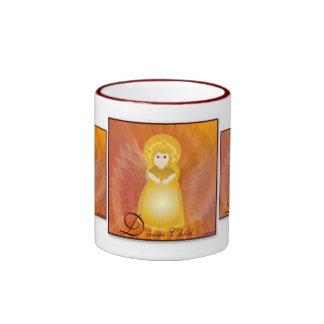 Divine Child Dazzling Love Fiery Angel's Wings Ringer Coffee Mug