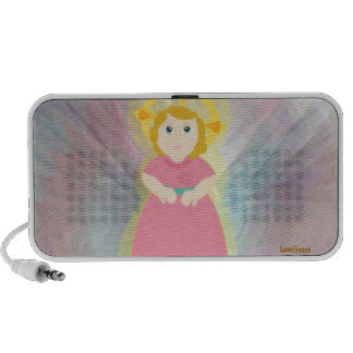 Divine Child Dazzling Love Pink Angel's Wings Mp3 Speaker