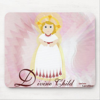Divine Child Dazzling LoveBurgundy Angel's Wings Mouse Pad
