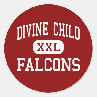 Divine Child - Falcons - High - Dearborn Michigan Classic Round Sticker