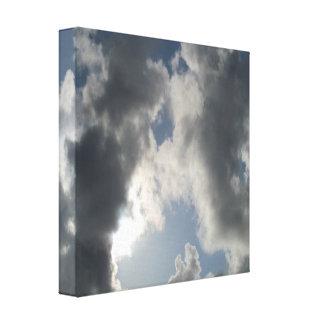 Divine Connection Cloudy Sky Canvas