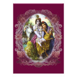 Divine Couple Radha Krishna Custom Invitations