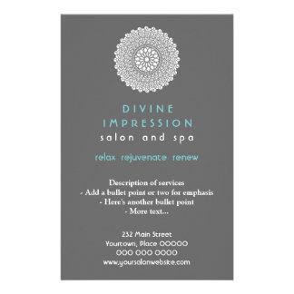 Divine Cyan Impression Vertical Flyer