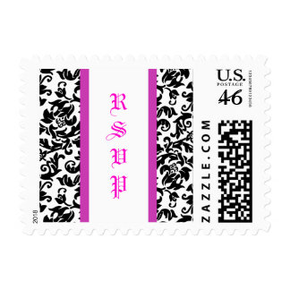 Divine Damask small Postage Stamps
