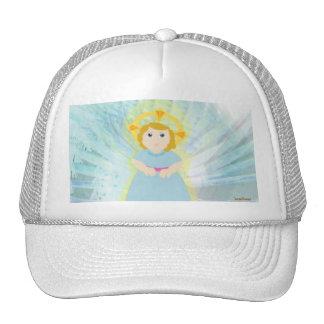Divine Dazzling Blue Angel's Wings Cap Trucker Hat