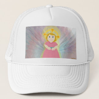 Divine Dazzling Love Pink Angel's Wings Trucker Hat