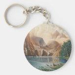 Divine Deer Lake.jpg Keychain