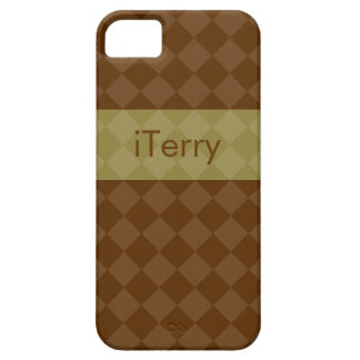 Divine Diamond Patterns_Brown & Olive_personalized iPhone 5 Covers