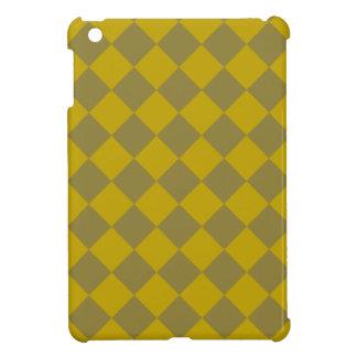 Divine Diamond Patterns_Gold Green iPad Mini Cover