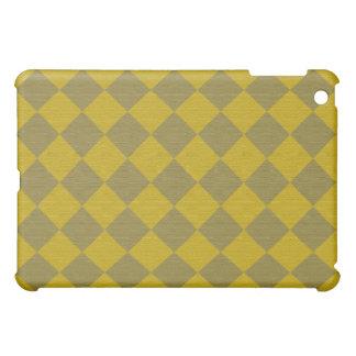 Divine Diamond Patterns_Gold Green texture Case For The iPad Mini