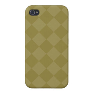 Divine Diamond Patterns_Olive iPhone 4 Cover