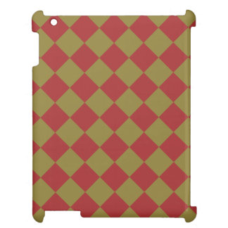 Divine Diamond Patterns_Red Green Case For The iPad 2 3 4