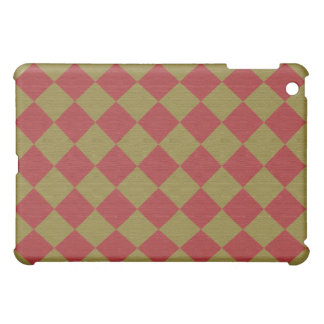 Divine Diamond Patterns_Red Green texture iPad Mini Case