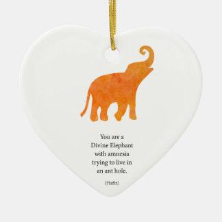 Divine Elephant Ceramic Ornament