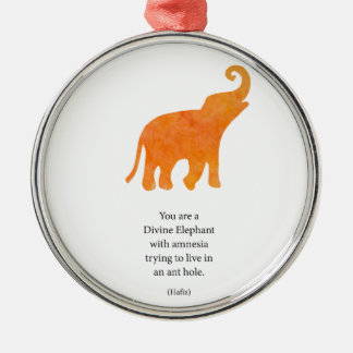 Divine Elephant Metal Ornament