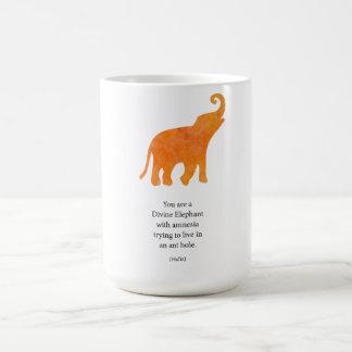 Divine Elephant Classic White Coffee Mug
