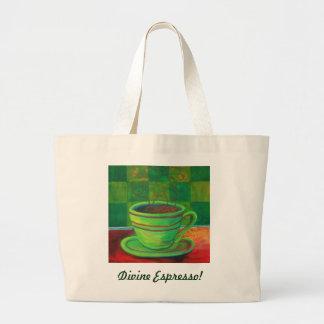 Divine Espresso! by Deb Magelssen Studip Jumbo Tote Bag