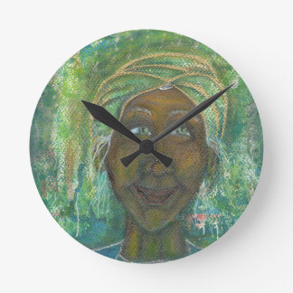 Divine Feminine Auntie Jadene Wall Clock