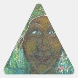 Divine Feminine Auntie Jadene Triangle Sticker