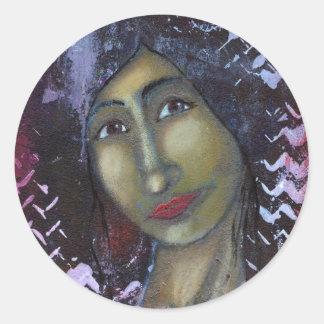 Divine Feminine Ayesha Classic Round Sticker