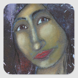 Divine Feminine Ayesha Square Sticker