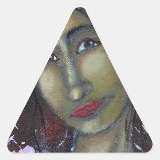 Divine Feminine Ayesha Triangle Sticker