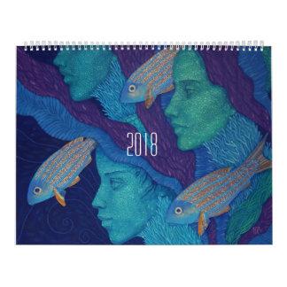 Divine feminine, painted girls fantasy surreal art calendar