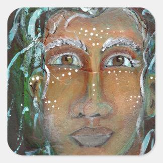 Divine Feminine Ragnhailt Square Sticker