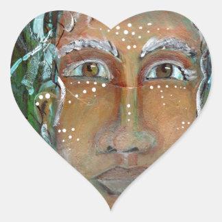 Divine Feminine Ragnhailt Heart Stickers