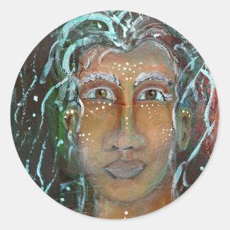 Divine Feminine Ragnhailt Round Sticker