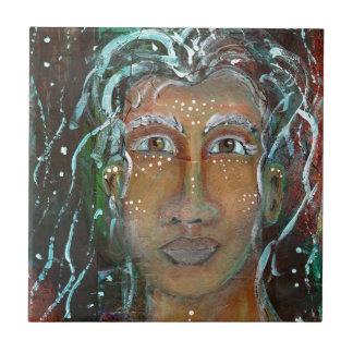 Divine Feminine Ragnhailt Ceramic Tile