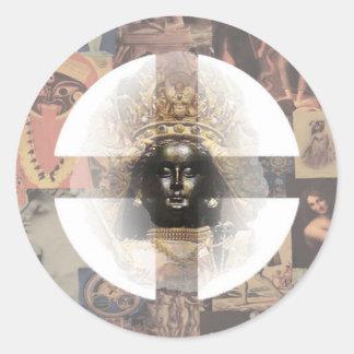 Divine Feminine Sticker Round Sticker