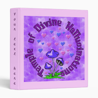 Divine Hallucination Temple 3 Ring Binder
