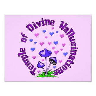 Divine Hallucination Temple 4.25x5.5 Paper Invitation Card