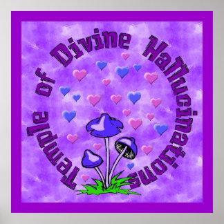 Divine Hallucination Temple Poster