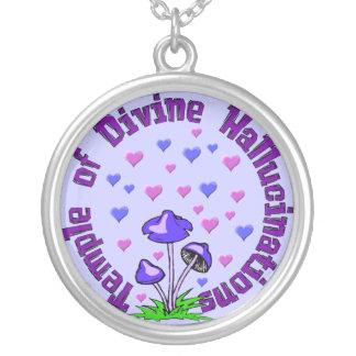 Divine Hallucination Temple Round Pendant Necklace
