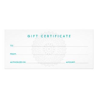 Divine Impression Blue Gift Certificate Rack Card