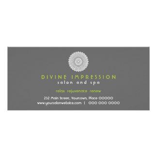 Divine Impression Green Gift Certificate Custom Rack Card
