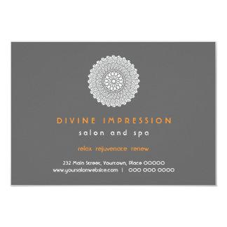 Divine Impression Orange Gift Certificate 3.5x5 Paper Invitation Card