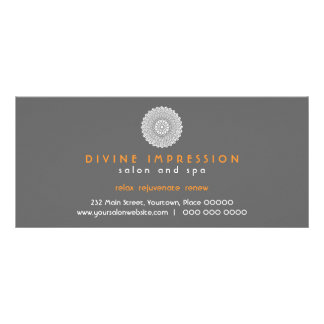 Divine Impression Orange Gift Certificate Rack Card