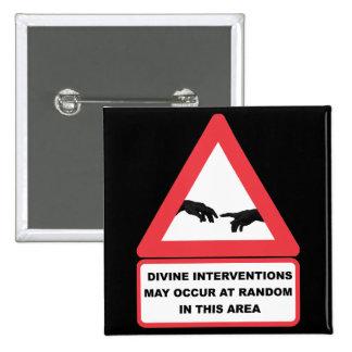 Divine Interventions Pinback Button