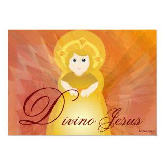 Divine Jesus Dazzling Love Fiery Angel's Wings 5x7 Paper Invitation Card