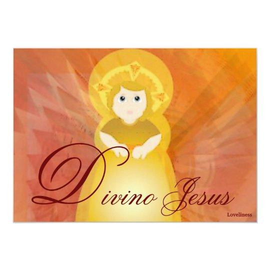 Divine Jesus Dazzling Love Fiery Angel's Wings Card